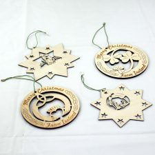 Irish wooden Christmas decorations made in Ireland
