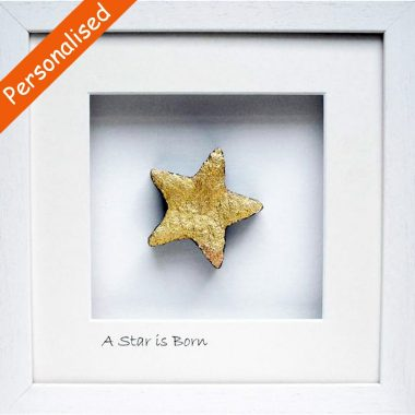 A star is born, ancient Irish turf cut in the shape of a star, made in Ireland