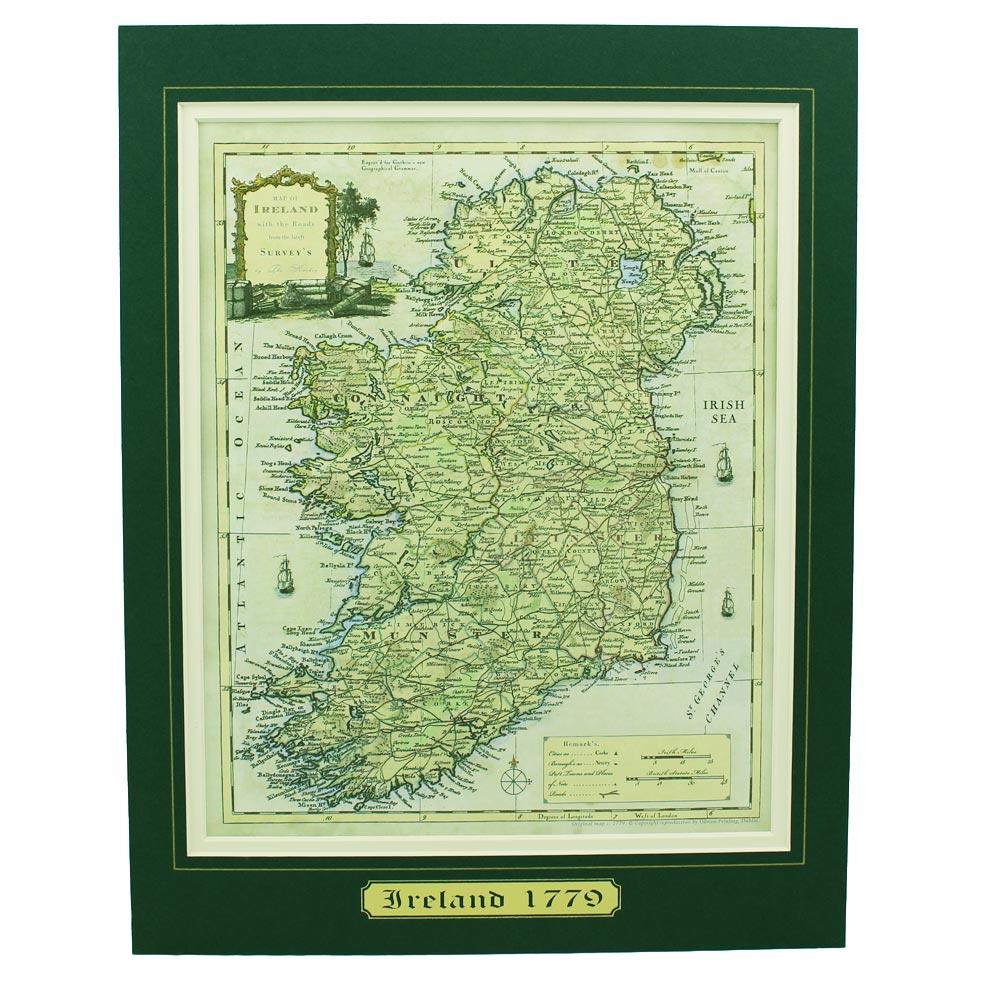 Ancient Map Of Ireland.Ancient Map Of Ireland
