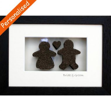 Bride & Groom cut from authentic Irish Bog, made in Ireland