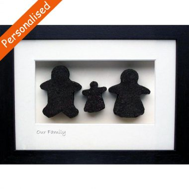 Our Family of 3, bog turf gift made in Ireland