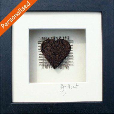 Love Heart shaped Irish turf, authentic Irish gift made in Ireland