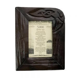 Bog Oak Photo Frame made in Ireland