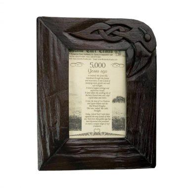 Bog oak photo frame made in Ireland
