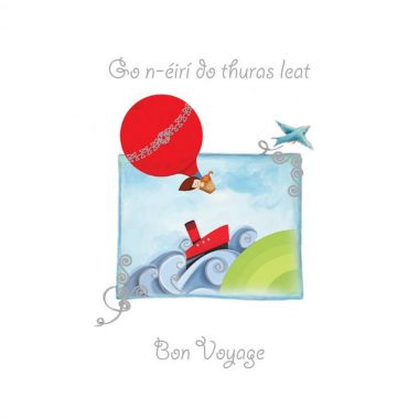 Bon Voyage Greeting Card with Irish and English text, made in Ireland