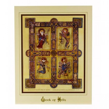Book of Kells Print, mounted and ready to frame, made in Ireland