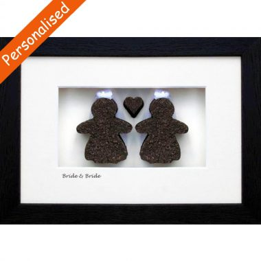 Two Brides, perfect same sex wedding gifts. Handmade from Irish Turf. Personalised gifts made in Ireland