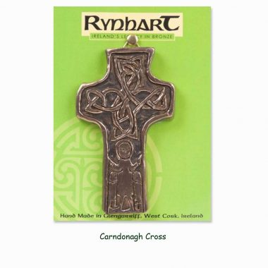 Carndonagh Cross Wall Ornament, in bronze, made in Ireland by Rynhart
