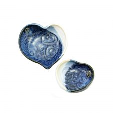 Two heart bowls handmade by Castle Arch Pottery, Ireland