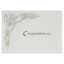 Congratulations Celtic Notelet made in Ireland
