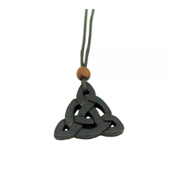 Celtic Peace Symbol Wood Pendant made in Ireland