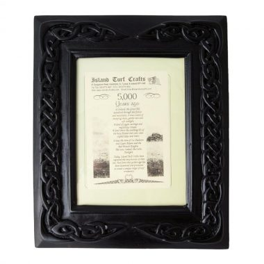 Celtic Turf Large Photo Frame, made in Ireland from ancient bog turf