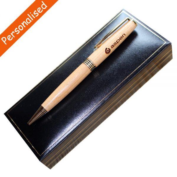 Personalised Wooden pens handmade in Ireland