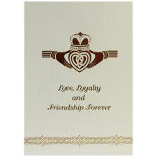 Claddagh Greeting Card made in Ireland, Love Loyalty & Friendship