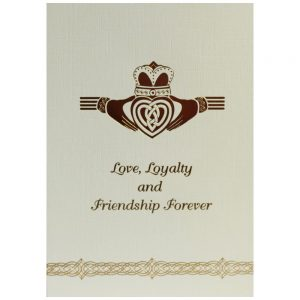 Claddagh Greeting Card made in Ireland, Love Loyalty & Friendship