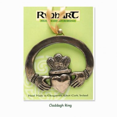 Claddagh Ring Wall Ornament, made in Ireland from bronze, by Rynhart
