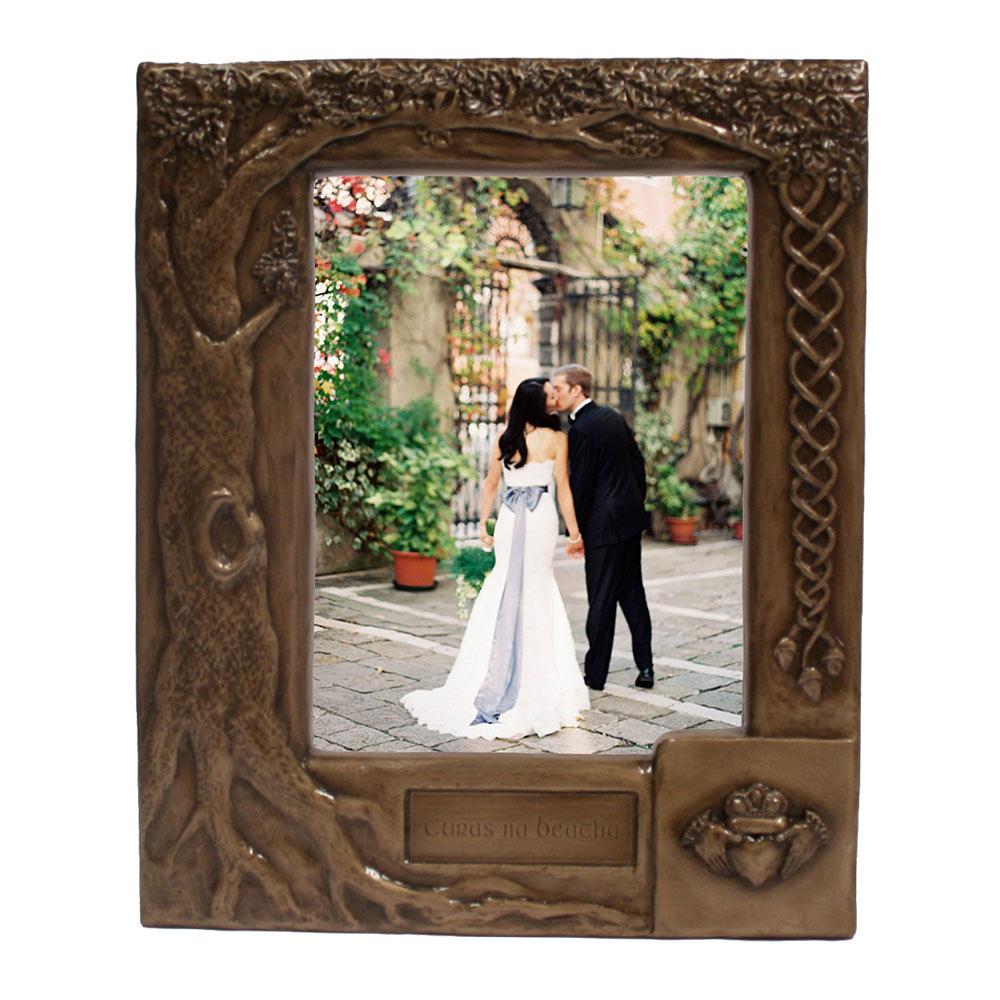 Personalised Photo Frame Wedding Gift: Personalised Claddagh Wedding Photo Frame ☘ Totally Irish