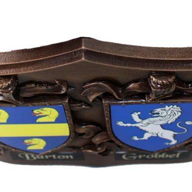 family crests double plaque Ireland