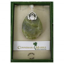 Connemara Marble Claddagh Pendant, perfect gift for love or friendship