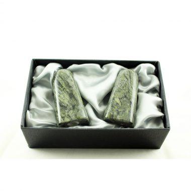 Connemara Marble Condiment Set, handmade in Ireland by Hennessy & Byrne