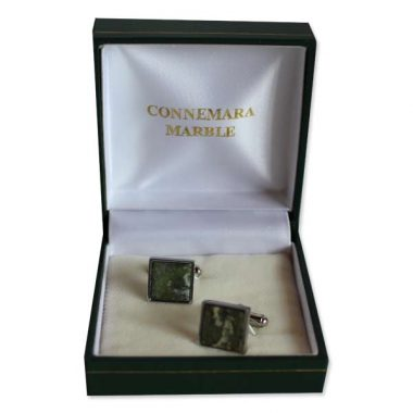 Connemara Marble Square Cufflinks, perfect gifts for men, made in Ireland