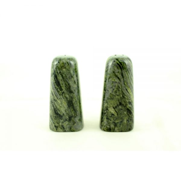 Connemara Marble Salt and Pepper Shakers made in Ireland