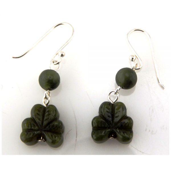 shamrock earrings made in Ireland