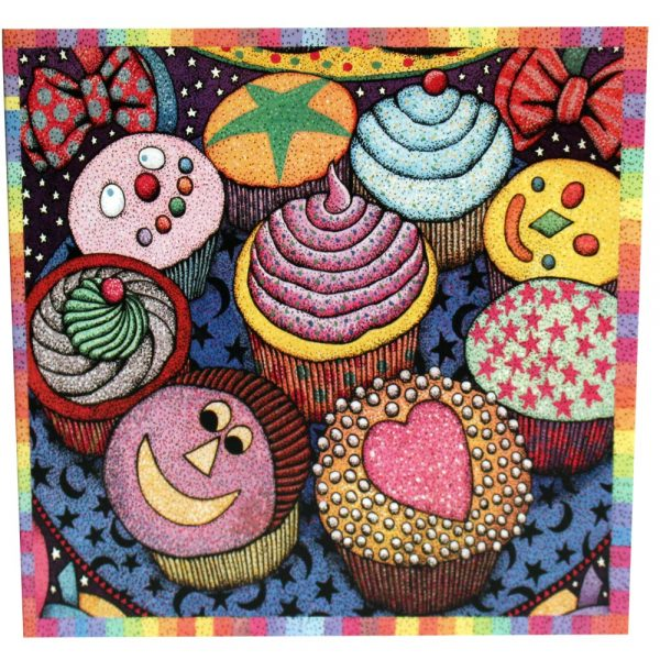 cup cake greeting card with recipe