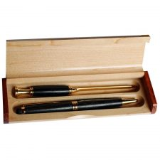 bog oak pen and letter opener gift set