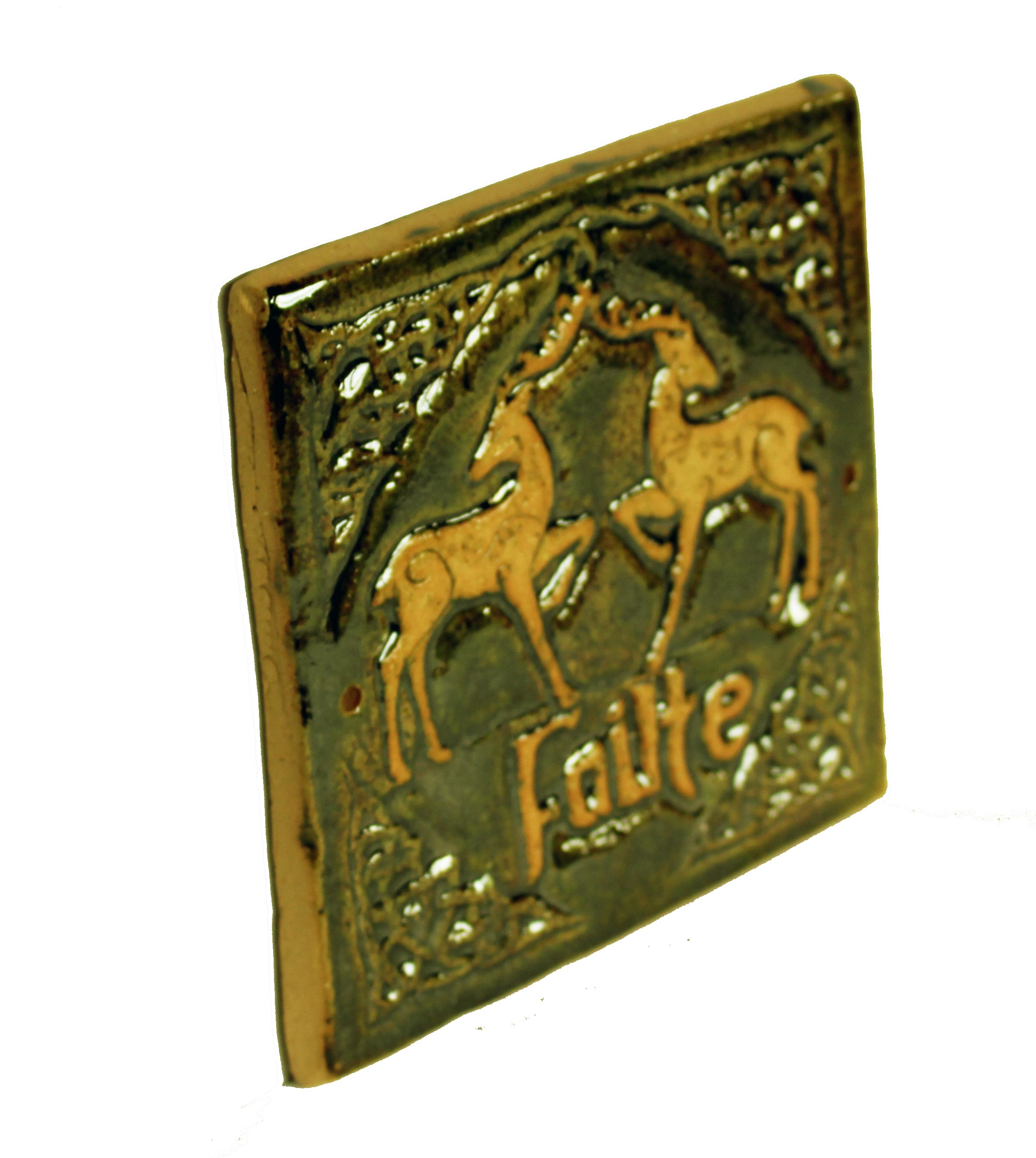 Homemade Celtic Gifts: Celtic Deer Failte Wall Plaque ☘ Totally Irish Gifts