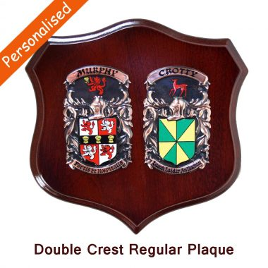 Copper Double Coat of Arms Plaque