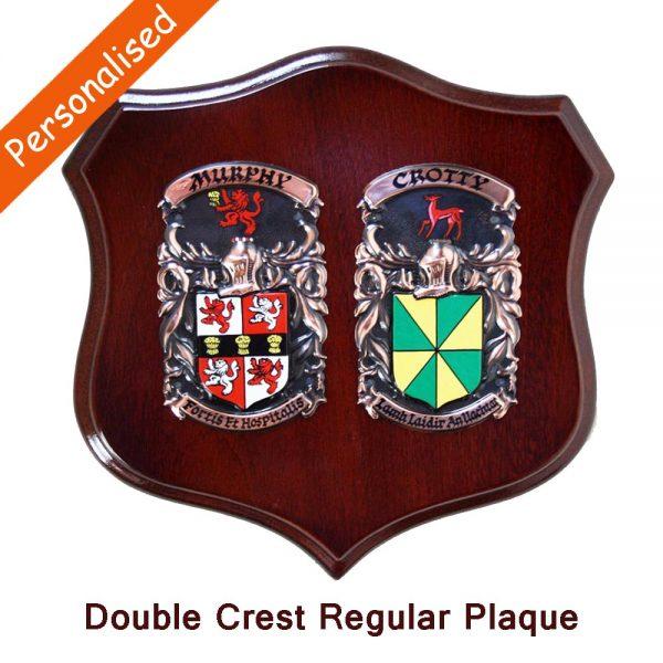 Copper Double Coat of Arms Plaque