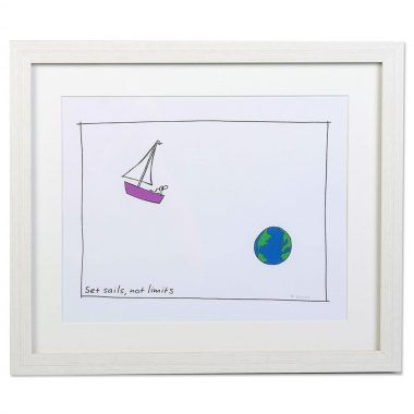 Cute inspirational gift 'Set Sails, Not Limits'. By Fab Cow, designed and made in Ireland