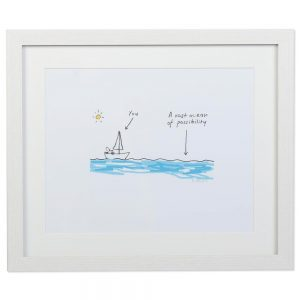 A vast ocean of possibilities, inspirational print, perfect graduation gifts made in Ireland