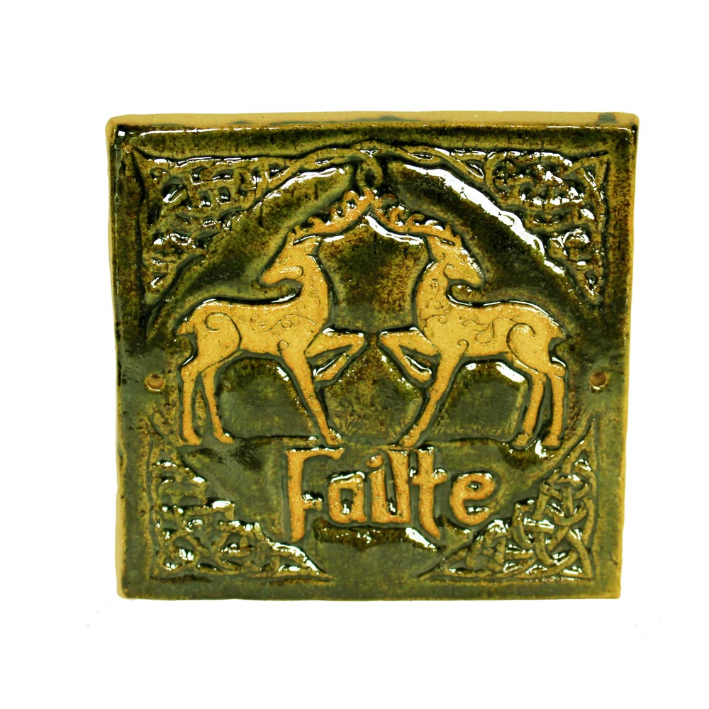 Celtic Deer Failte Wall Plaque | Totally Irish Gifts