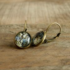Forget-Me-Not Jewellery, beautiful pair of earrings made in Ireland with real forget me not flowers
