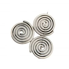 Newgrange brooch with Triple Spiral design, made in Ireland