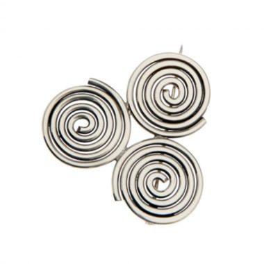 Newgrange brooch with Triple Spiral design, made in Ireland
