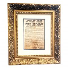 Easter gifts archives totally irish gifts gold frame 1916 proclamation negle Gallery
