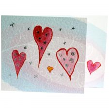 hearts greeting card made in ireland
