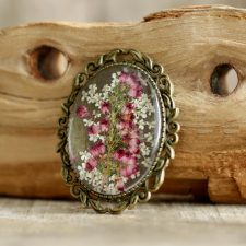 Irish Heather Brooch made from real wild growing Irish heather
