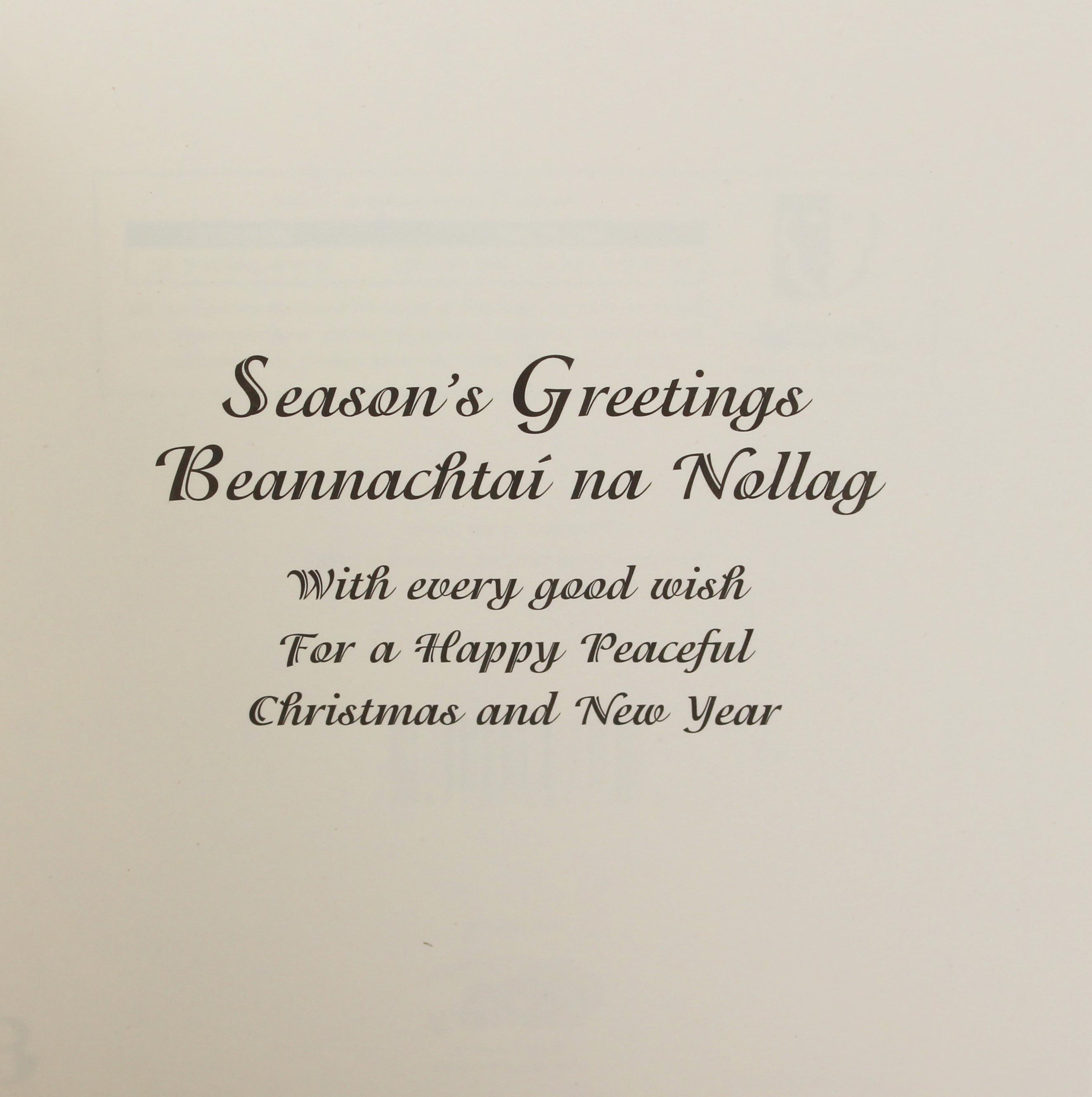 Christmas Card Greetings.Nollaig Christmas Cards Pack Of 10
