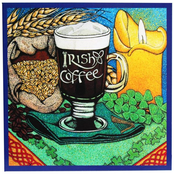 Irish Coffee greeting card with recipe for irish coffee