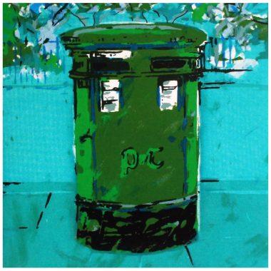 post box Ireland greeting card
