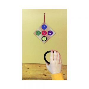 junior wooden ring board for children to play the game of rings