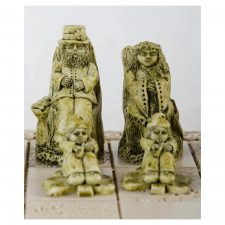 Cute Irish chess set pieces including leprechauns