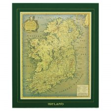 old style map of the kingdom of Ireland