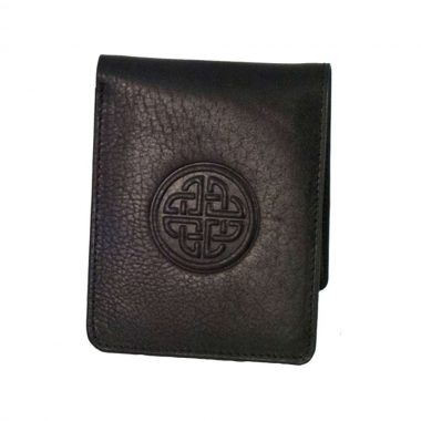 'Conan' quality black leather wallet handcrafted in Ireland