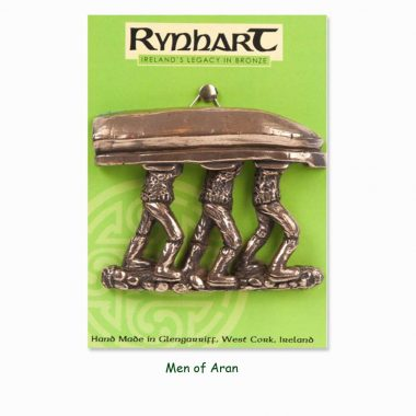 Men of Aran wall ornament, bronze piece made in Ireland by Rynhart