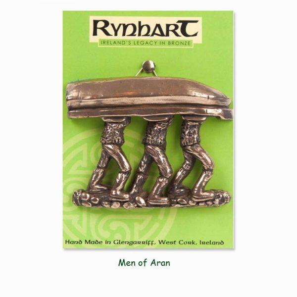 Men of Aran wall ornament, bronze piece made in Ireland by Rynhart